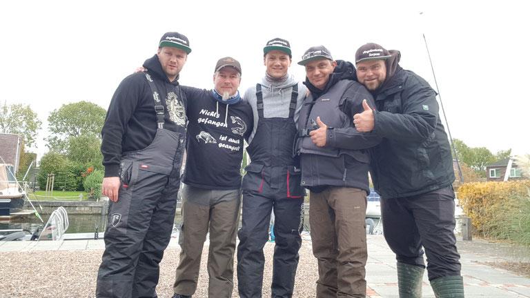 A.S.S.-Team 2018 v.l.n.r. Marius, Lars (Teamer bis 01/2021), Almir (Teamer bis 02/2019), Marc und Benny (Teamer bis 01/2021)