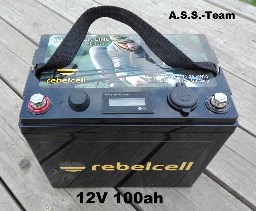 Rebelcell Li-ion Akku 12V 50/100ah im Dauertest beim Angelservice-Sauerland-Team