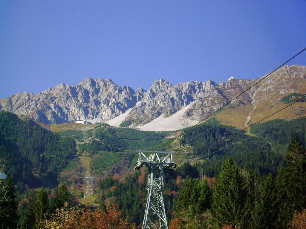 Blick v. d. Hungerburg zur Seegrube bzw.aufs Karwendel