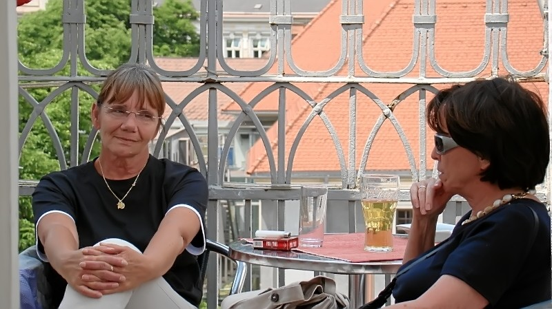 mit Freundin Lilian auf dem Turm