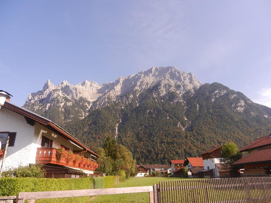 Blick auf´s Wettersteingebirge