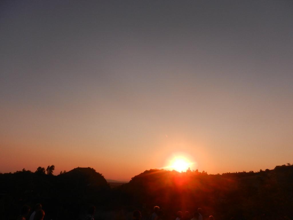 Sonnenuntergang über dem Römer-Steinbruch St. Margarethen