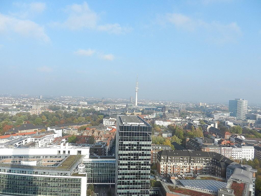 "Blick vom ""Michl""-Turm auf Hamburg"