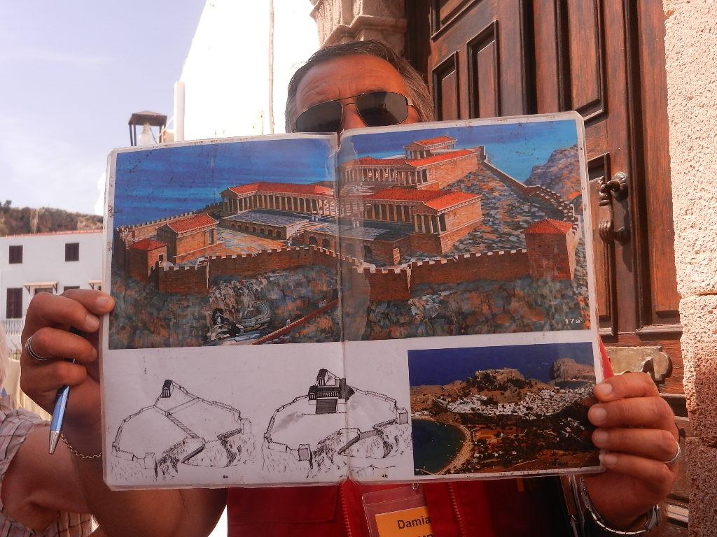 so war der Urzustand der Akropolis von Lindos