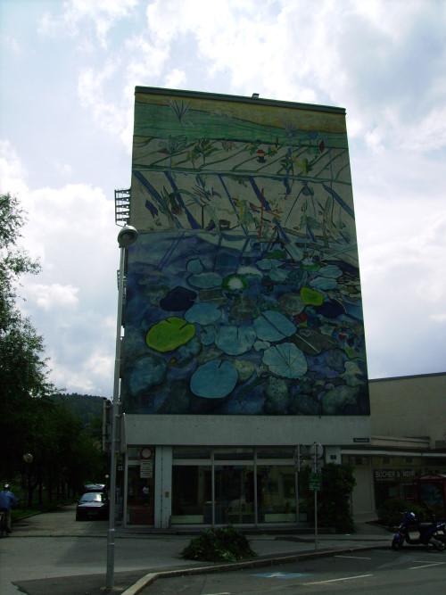 """Impression aus Leoben -""""das Seerosenhaus"""" 1994 gemalt v. Helmut Kand"""