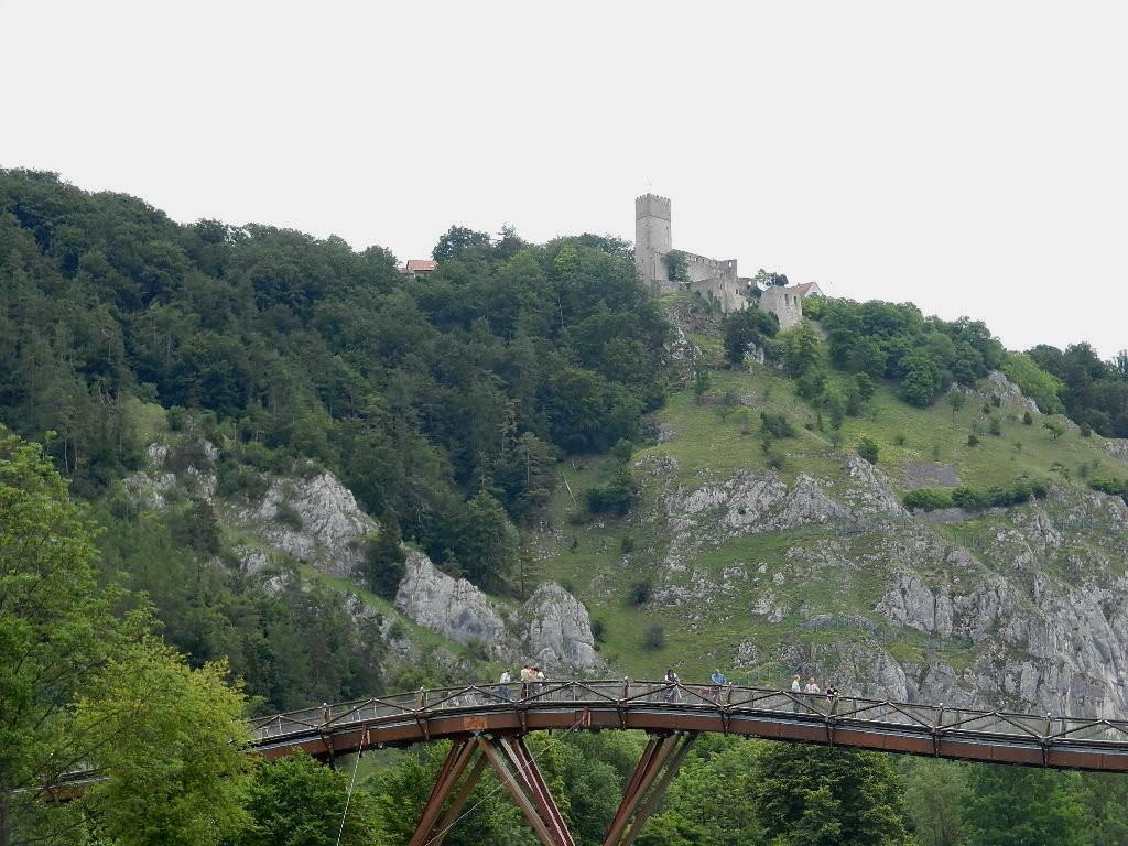 ...im Hintergrund die Burgruine Randeck
