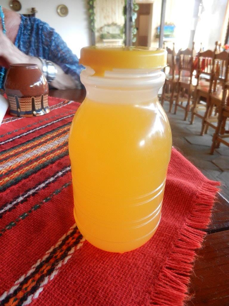 zum Abschluss bekamen wir ein Vitamingetränk...