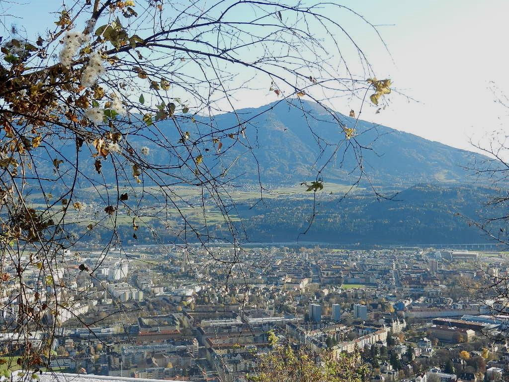 Blick auf Innsbruck - im Hintergrund der Patscherkofel