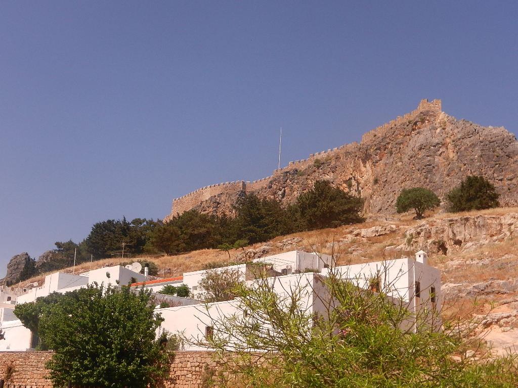 Blick auf die Akropolis von Lindos