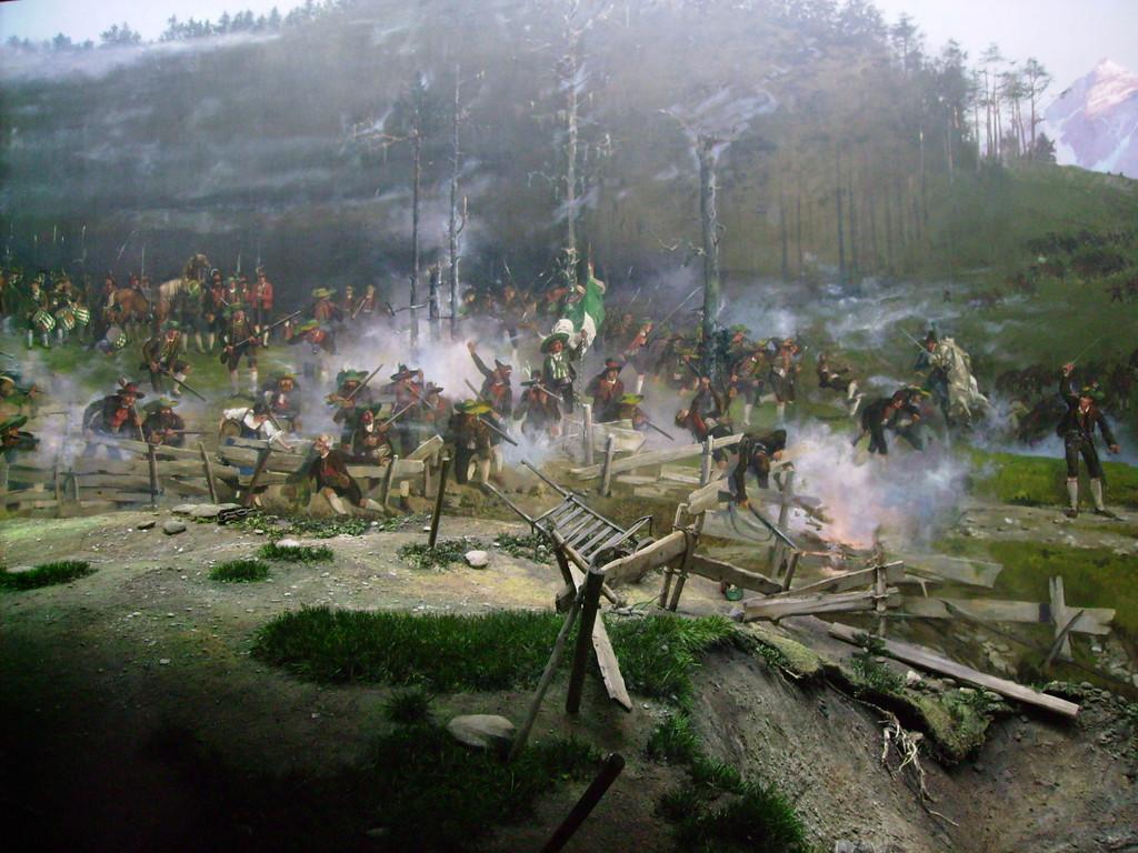 Ausschnitt vom Rundgemälde - die Schlacht am Bergisel 1809