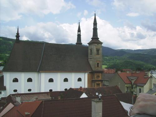 Blick v. Turm zur Pfarrkirche