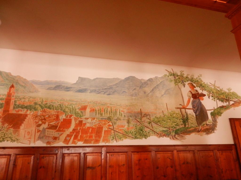 Wandbild in der Gaststube