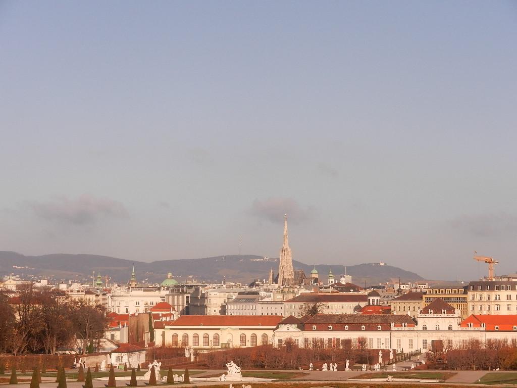 Blick vom oberen Schloss auf Wien