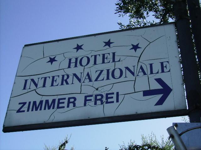 Ankunft beim Hotel ...