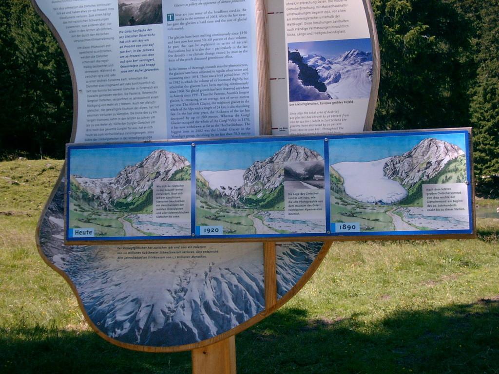 Entwicklung der Gletscher in den letzten Jahrzehnten