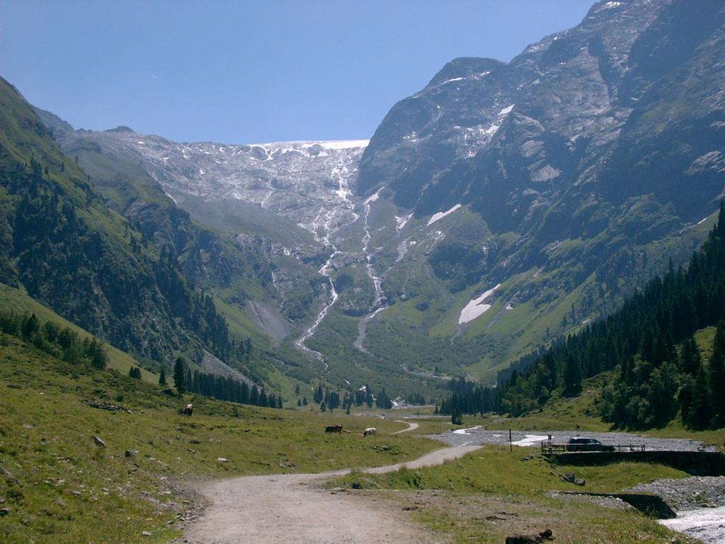 """Blick zum Gletscher - bzw. zum """"Rest"""" des Gletscher"""
