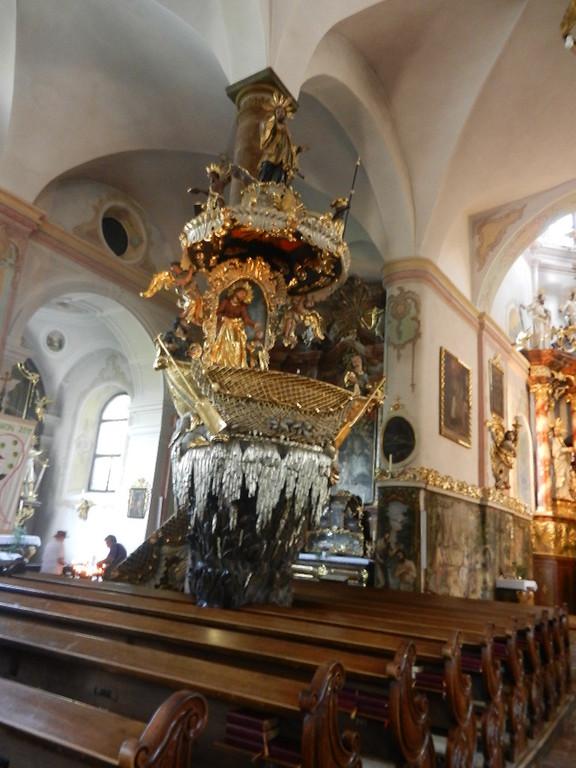 Fischerkanzel in der Pfarrkirche v.Traunkirchen