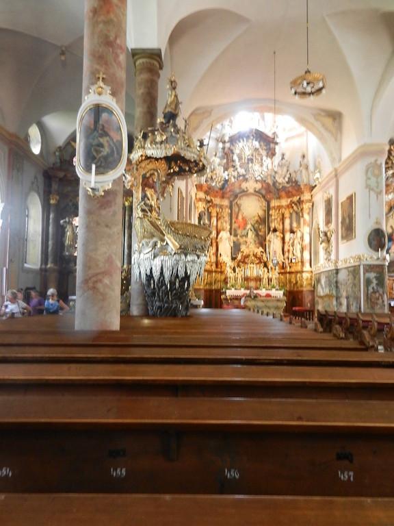 der Altar in der Pfarrkirche