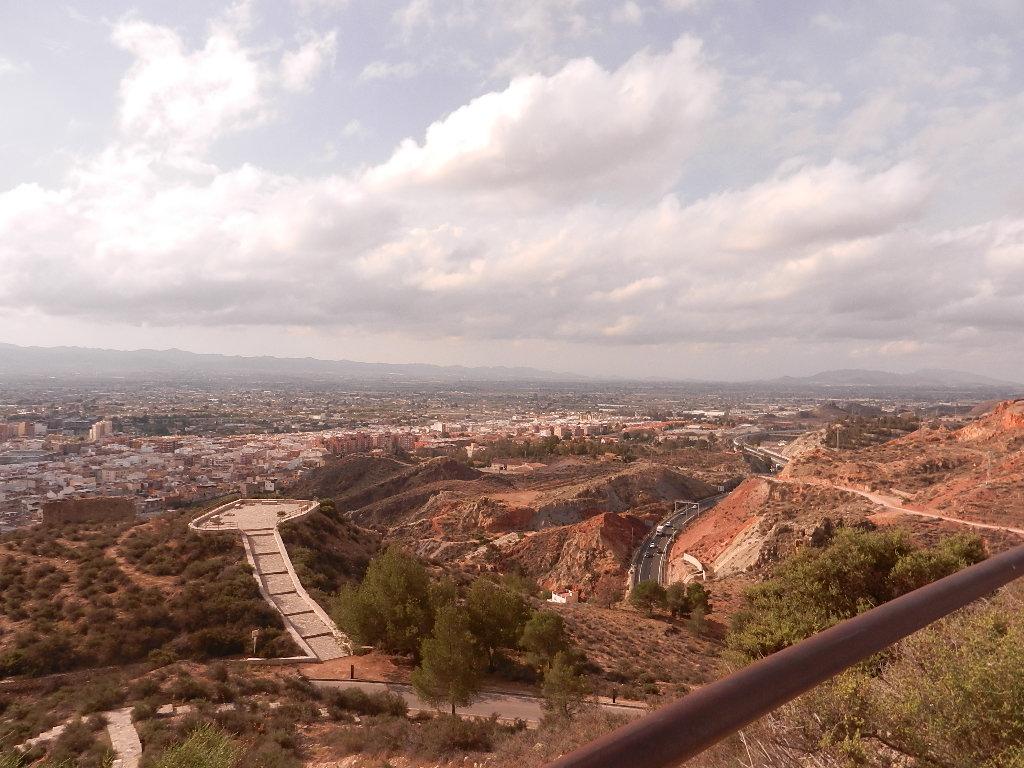 Blick auf Lorca vom Castillo