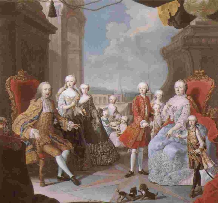 Bildnis - Kaiserin Maria Theresia mit Mann und Kinder
