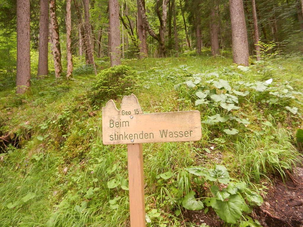 Schilder, die entlang der 7km langen Strecke stehen