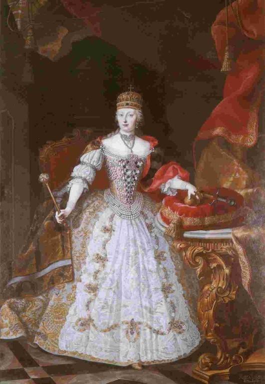 Bildnis Kaiserin Maria Theresia im ungarischen Krönungsornat