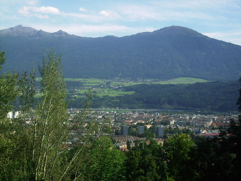 Blick v. Alpenzoo auf Innsbruck