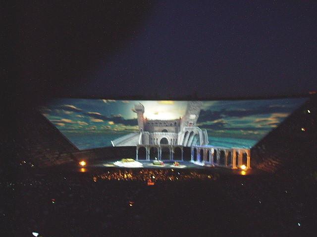 Video-Bühnenbild zu Othello