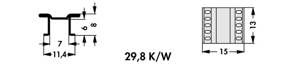 FK 251 08 LF PAK Fischer 表面実装用ヒートシンク