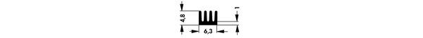 ICK SMD A 13 SA Fischer/フィッシャー 表面実装デバイス用ヒートシンク(表面:黒アルマイト)