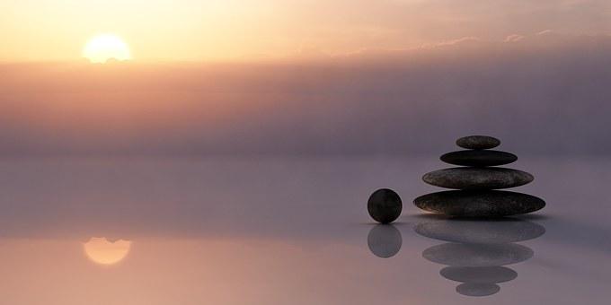 Coucher de soleil zen