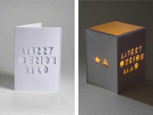 Typografische kerstkaart