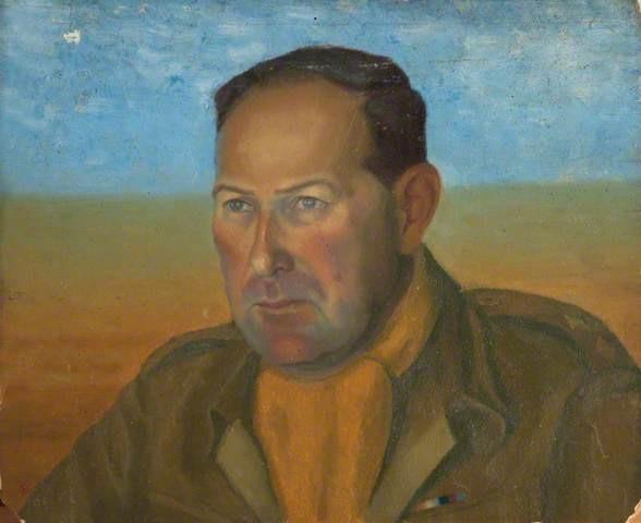 Simon Hacohen in einem Porträt von Leutnant David Charles Feilding, einem seiner Mitgefangenen in Rotenburg an der Fulda (Oflag IX A/Z)