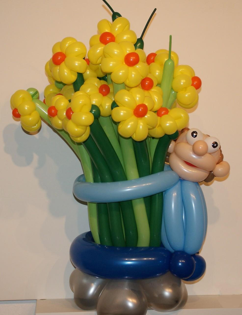 Ballonblumen twisten, Geburtstag , Blumenstrauß ,Mr. toni balloni ch