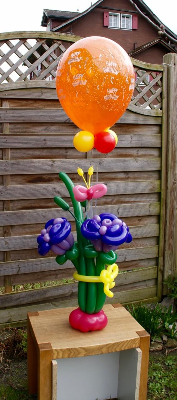 Ballonblumen twisten, Geburtstag, Ballonblume groß, Mr. toni balloni ch