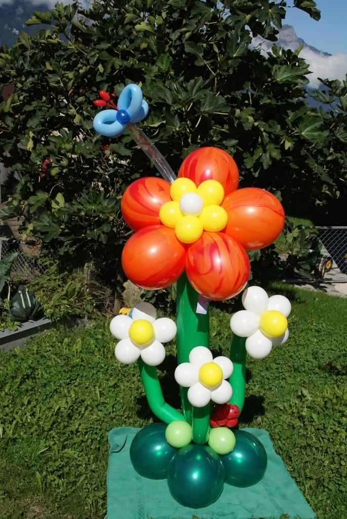 Ballonblumen twisten, Geburtstag, Ballonblume groß , Mr. toni balloni ch