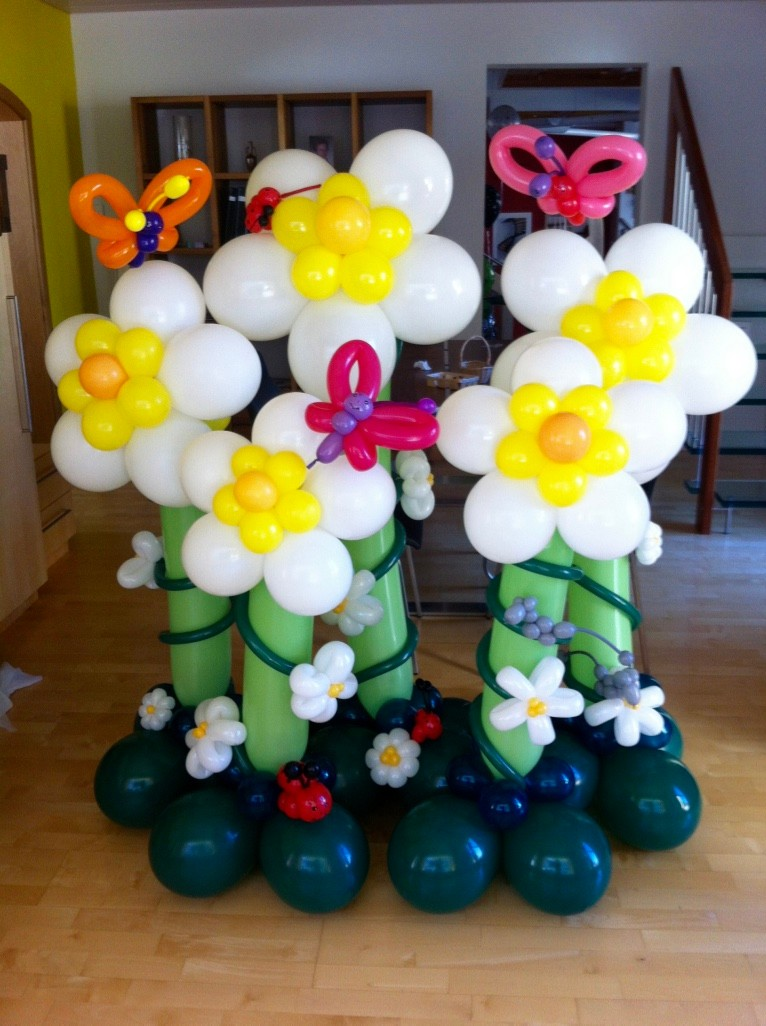 Ballonblumen twisten, Geburtstag,  Blumenstrauß ,Ballonblume groß, Mr. toni balloni ch