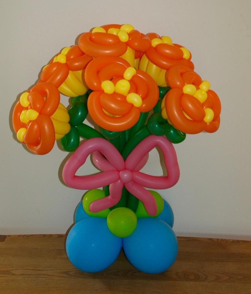 Ballonblumen twisten, Geburtstag,  Blumenstrauß , Mr. toni balloni ch