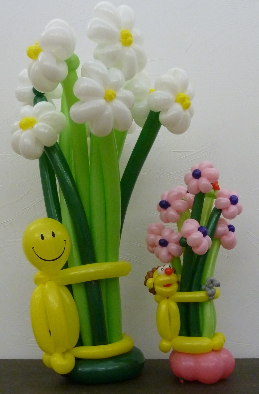 Ballonblumen twisten, Geburtstag, Blumenstrauß,   Mr. toni balloni ch