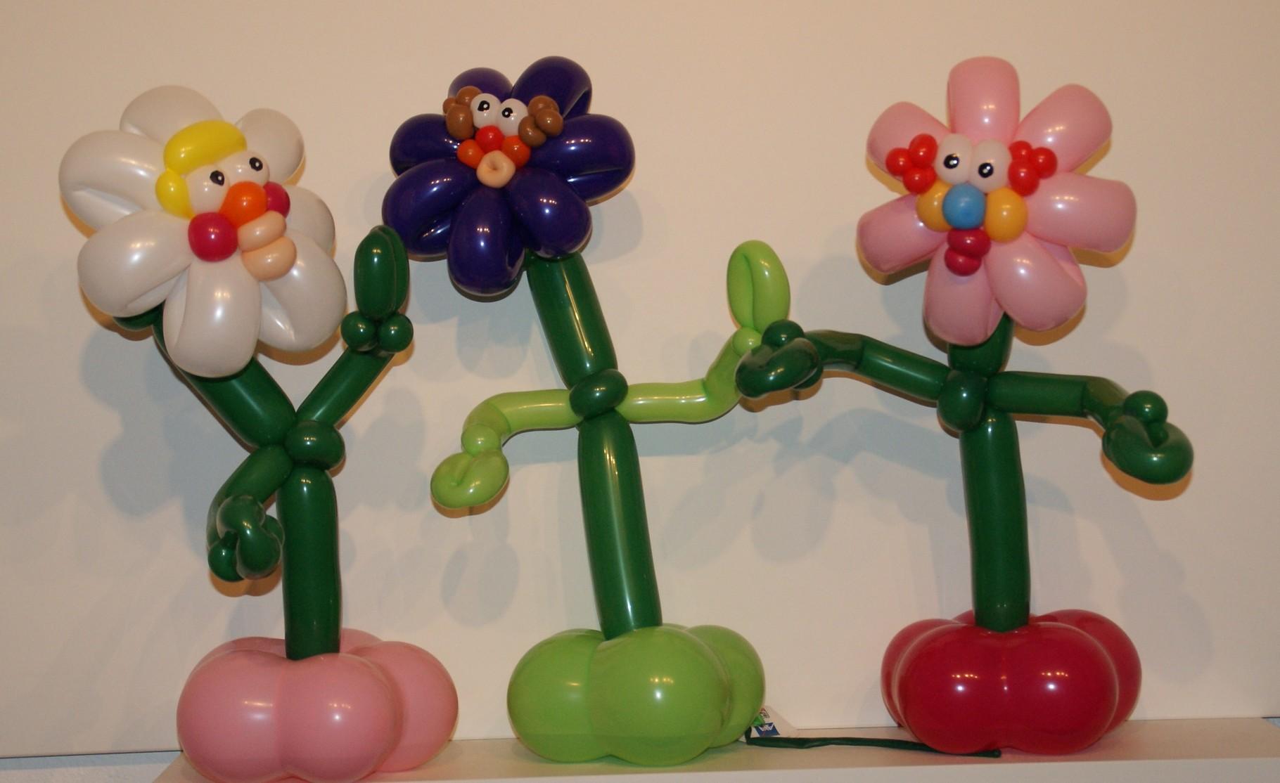 Ballonblumen twisten, lustige  Blumen, Geburtstag ,Tischdeko,Mr. toni balloni ch