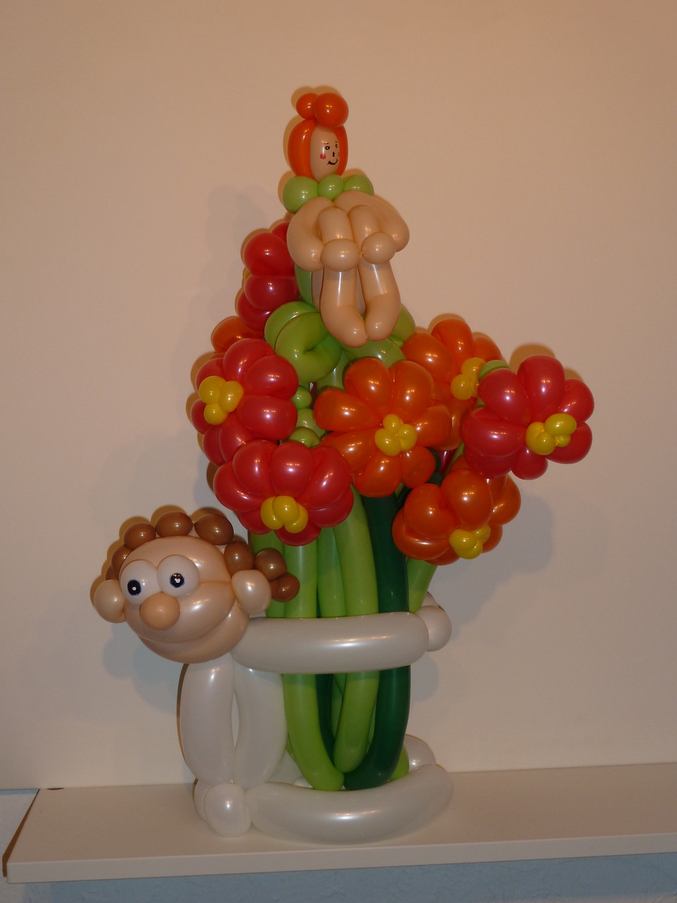 Ballonblumen twisten, Blumenstrauss, Ballonelfe, Geburtstag, Mr. toni balloni ch