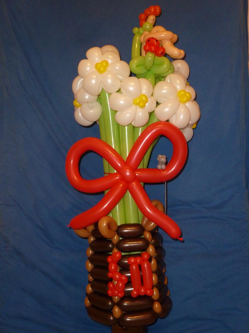 Ballonblumen twisten, Geburtstag, Blumenstrauß ,Mr. toni balloni ch