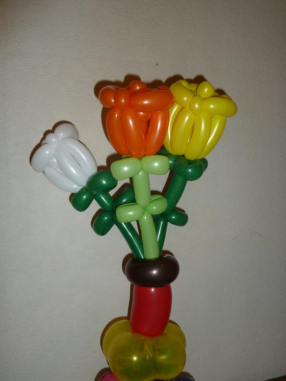 Ballonblumen twisten,  Blumenstrauß,  Mr. toni balloni ch