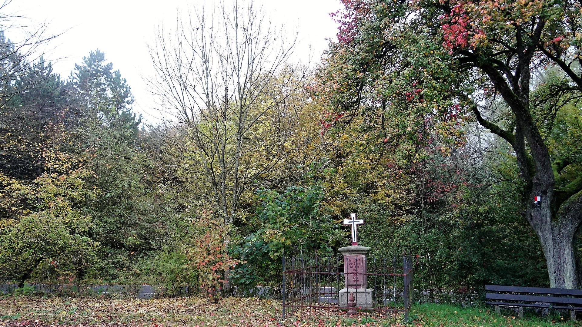 Wegekreuz am Scheidberg zwischen St. Barbara und Kerlingen