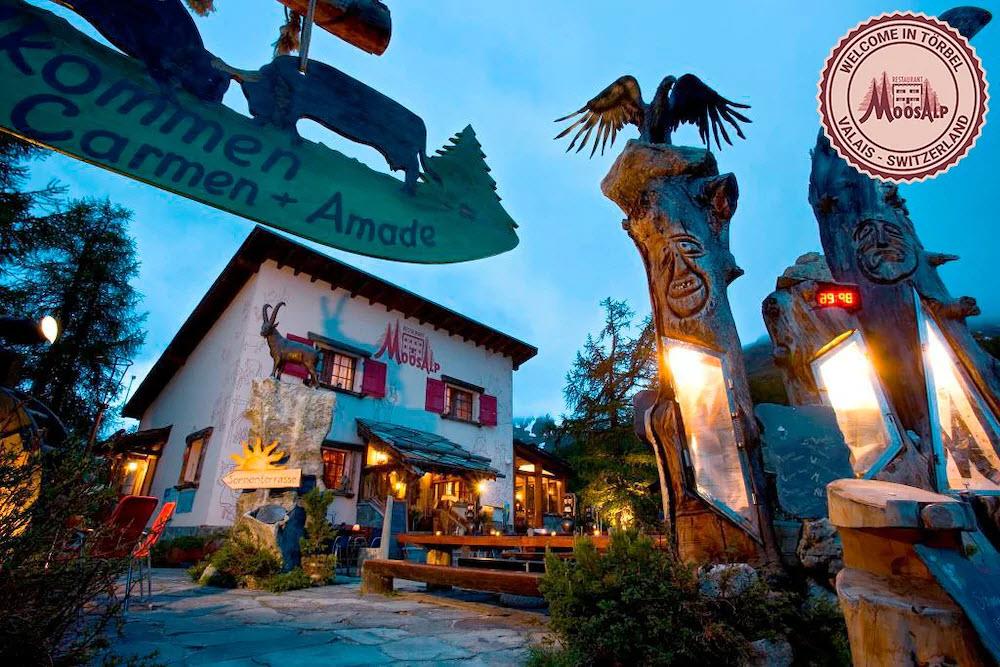 Das Restaurant Moosalp in Törbel VS ist weit bekannt.