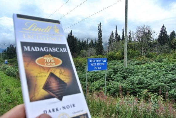 «Bloss 100g Schokolade für 152 Kilometer, das wird eng.»