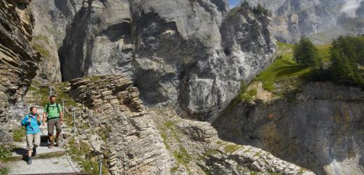 Die Wanderwege in Kandersteg gehören zu den schönsten in der Schweiz.