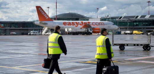 Rang 28: Billig-Airline Easyjet. Mitarbeiter des Flughafens am Flughafen Basel-Mulhouse-Freiburg.