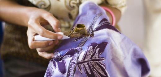 Kunterbunte Handwerkskunst: Batik.