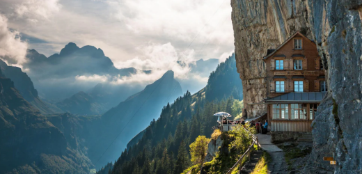 Das Berggasthaus Äscher im Appenzellerland ist der schönste Ort der Welt.